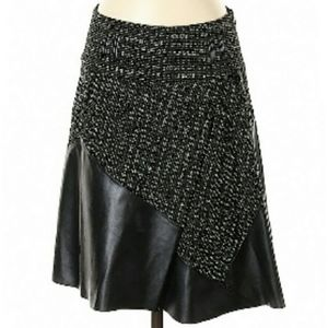 Etcetera faux leather tweed skirt Size 10